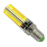 e14 24v lamba toptan satış-E14 LED Ampul AC DC 12 V-24 V 5 W 500LM 72-5730 SMD Silikon Avize Okuma Kristal Işık Droplight Lambası Beyaz / Sıcak (10 paket)