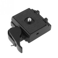 Wholesale Quick Release Plate Manfrotto - Wholesale High Quality Black Camera Quick Release Clamp Adapter + Quick Release Plate Compatible for Manfrotto 200PL-14 Compat Plate