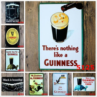 Wholesale Wholesale Guinness - Black Beer My Guinness Vintage Tin Signs Retro Metal Sign Antique Imitation Iron Plate Painting Decor Wall Of Bar Cafe Pub Shop Restaurant