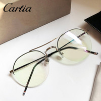 Wholesale Metal Frames Reading Glasses Women - optical frames TB903 Browne reading glasses men metal clear glasses gold silver color with box