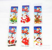 Wholesale Children S Charms - PVC Christmas Cartoon Keychain Children Bag Key Chains Phone Straps New Year Gifts for Kids Santa Claus Snow Pendants Charms Model Keyring