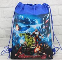 Wholesale Avengers Backpack Kids - 48 pcs Marvel The Avengers Kids Drawstring Backpack Bags ,School   Shopping Bags, Kids Christmas Best Gift,Party Favor