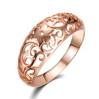 585 Rose Gold Plated Ring Vintage Flower Jóia Padrão Chinês Bijoux Mulheres Casamento Engagement Wide Ring Crown Jewel Bague kr1