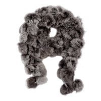 Wholesale Gray Fur Shawl - Wholesale- SAF 2016 NEW Rabbit Fur Soft Winter Wear Collar Neck Warmer Scarf Wrap Shawl Gray
