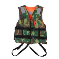 Wholesale Boating Vest - Wholesale- Adult Swimming Life Jacket Vest Foam Boating Fishing Surfing Drifting Safety Jackets Colete Salva Vidas With Whistle Prevention