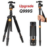 stative monopod dslr großhandel-1 stücke neue upgrade q999s professionelle fotografie tragbare aluminium kugelkopf + stativ einbeinstativ für canon nikon sony dslr kamera