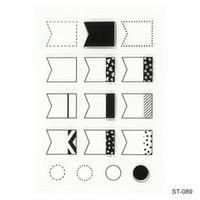 Wholesale Scrapbooking Sheets - Wholesale- Cute Transparent Clear Stamp Seal Arrow Graphics Pattern Photo Album Scrapbooking DIY craft 1 Sheet.