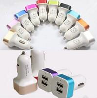 ingrosso promozioni di mora-Adattatore per caricabatterie da auto Dual USB 2 porte in metallo promozionale 2.1A per tablet Iphone Iphone 6 7 Plus Samsung s7 s7edge s8 plus Cellulare
