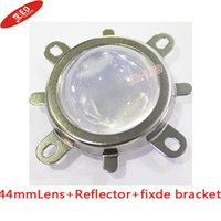 Wholesale- Livraison gratuite 10pcs 44mm Lens + 50mm Reflector Collimator Base Housing + Fixed bracket Pour 20W- 100W High Power Led 60 degrés
