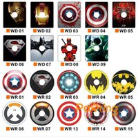 Wholesale Theme Ring - Super Hero Theme Universal Mobile Phone Ring Holder with Reusable Silicone Glue 10 Dollars for 6 Pieces Free Shipping