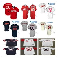 Wholesale Short Women Color - 2017 Custom Men Women Kid Cleveland Indians baseball Throwback jerseys Stitched size S-6XL Color White Blue Grey Red Free Shipping