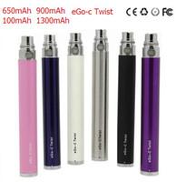 Wholesale Mt3 C E - eGo-c Twist Battery for Electronic Cigarette Variable Voltage 3.2-4.8V 650mah 900mah 1100mah for all series eGo Kit E cigarette CE4 MT3