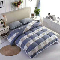 Wholesale Plaid Plaid Red Blue Print Comforter Quilt cm cm