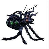 Wholesale Soft Rubber Spiders - Wholesale-toys Simulation Spider Toy Soft rubber Imitate Spider Funny tricky brains Prank horror Toys for Halloween Decoration Party Props