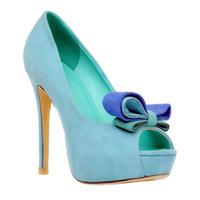 Wholesale best stilettos shoes for sale - Group buy Zandina Best Selling Womens Fashion Handmade mm Butterfly Open toe Stiletto High Heel Pumps Shoes Blue XD090