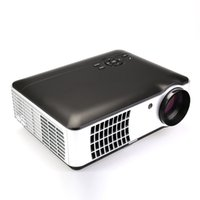 Wholesale Multimedia Entertainment - Wholesale-HD Projector Home Multimedia Projector RD-806A Business Entertainment Projector With AV HDMI USB VGA ATV Input+cable