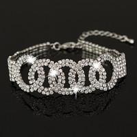 Wholesale Silver Chain Bracelete - Own factory made Bracelete Pulseiras Austrian Crystal Womens Bracelet Jewelry Fashion Wedding Bracelets Accessories for women B014