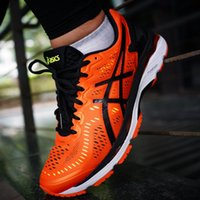 Wholesale flat boxes for shipping - 2017 Discount Price New Style Asics Gel-kayano 23 Running Shoes For Men Sneakers Athletic Boots Sport Shoes Size 40-45 Free Shipping