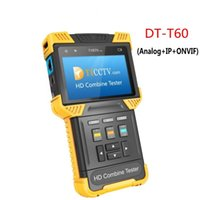Wholesale Bnc Cctv Monitors - DT-T60 CCTV TESTER Monitor 1080P IP Analog Camera Tester 4.0Inch HD Combine Tester with ONVIF RJ45 BNC 12V 1A Power Output ann