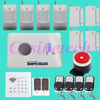 Wholesale Cheap Home Alarm Security Systems - Cheap classical SMS GSM Alarm system Home security alarm system with remote controlled Keypad,RFID tag,PIR detector,door sensor