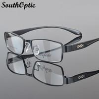 Wholesale Morden Men - Wholesale- 2016 New Morden Stainless Steel Excellent Glasses Men 2394 Prescription Optical Frame Fashionable Eyeglasses Optical Frames