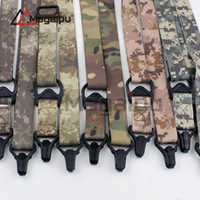 Wholesale Two Point Bungee Slings - Magaipu Canvas Adjustable Two Point Tactical Rifle Sling Hunting Gun Strap Outdoor Airsoft Mount Bungee System