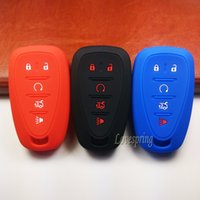 Wholesale Keyless Remote For Cars Shell - 5 Buttons Rubber Silicone Car Key Fob Cover Case Keyless Entry Key Holder Shell Protector Remote For Chevrolet 2016 2017 Malibu