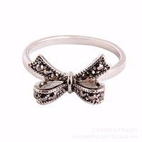Wholesale Charm Thai - 2017 Party Trendy Anillos Jewelry Hot Retro Fashion Charm 925 Rings For Women Diy Compatible With Pandora Thai Vintage