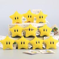 Wholesale mario keychain plush for sale - Super Mario Cute Mini Yellow Stars quot CM Plush Keychain Soft Dolls Small Pendant Kids Gift