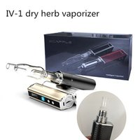 Wholesale Electronic Cigarette Portable Herbal Vaporizer - Electronic Cigarette Dry Herb Vaporizer Vape Kit Ecapple iv-1 Herbal Vaporizer Portable TC 18650 Mechanical Mod with Glass Bubbler DHL
