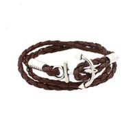 modèles de bracelet à la main achat en gros de-Ornements de mode Bracelet Creative Navale en alliage galvanisé navires Anchor Modélisation Preuve de rayonnement pour hommes et femmes Main chaîne 2 1zl J