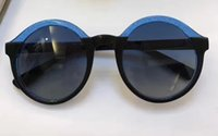 Wholesale Glam Alloy - Jimmy GLAM S Women's Round sunglasses Blue or Black NEW 2017 52-23-145 brand new with case