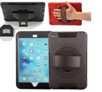 ipad fall gold großhandel-Für iPad mini2 Roboter-Kästen für iPad 2 3 4 5 6 ipad Luft Mini Hybrid-weiches Silikon-harte PC Kasten-Abdeckung mit Standplatz-Halter und Schirm-Schutz