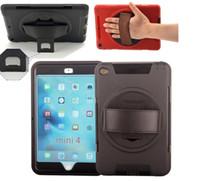 carcasas de iphone de silicona dura al por mayor-Para iPad Robot mini2 para el iPad 2 3 4 5 6 ipad Mini aire híbrido suave de silicona tapa dura cubierta de la PC con soporte de pie y Protector de pantalla