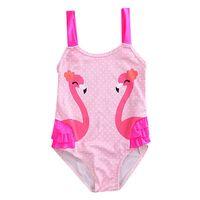 Wholesale Toddler Girls Tankini Swimsuits - ITFABS Toddler Kids Swimming Costumes Baby Girls Cute Swan Bikini Swimwear Tankini Swimsuit Bathing Suit Beachwear