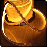 Hot sale 20M spool flexible LED neon Corpe Lighting strip jaune 6500K 16x16mm 12v 24v néon fil surface plate 120v 220v