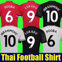 Wholesale Man Utd Shorts - Thailand quality 2017 2018 Man Utd LUKAKU soccer jerseys POGBA RASHFORD MKHITARYAN IBRAHIMOVIC jerseys football shirts 17 18 MATIC LINDELOF