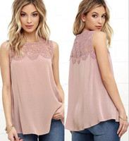 Wholesale Xl Blouse For Women Cheap - Summer Casual Chiffon Lace Blouse for Women 2017 Fashion Plus Size Cheap Women's T-Shirt Solid Shirts Summer Tops Blusas Femininas FS1638
