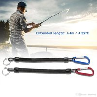 2pcs 1.4m Coiled Fish Missed Rope Fish Pole Rod Protector Elastic Rope Line Pesca Tackle Tool Y2622
