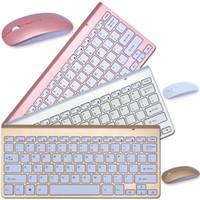 Wholesale waterproof wireless keyboard - Waterproof Original K108 2.4G Multi-Media Mini Wireless Keyboard and Mouse Combo for Android TV BOX PC Mac Laptops Desktops Gamer