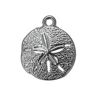 Un côté Antique Argent Plaqué Mignon Metal Bird Beach Sand Dollar Animaux Charms Zinc Alloy Pendant For Diy Necklaces Bracelets Making
