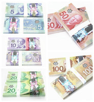 Wholesale Canada Package - Canada 5 10 20 50 100 or movie props and Education bank staff training paper fake money copy money children gift