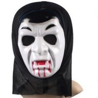 Wholesale Ghost Mask Toys - Halloween Party Masks Cosplay Scary Masquerade Face Horrible Man Scream Ghost Mask Adult Party Masks Gift with Hood Festival Toy Volto