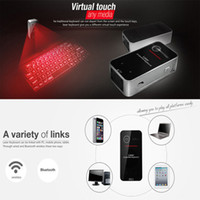 Mini Virtual Laser Projetor teclado QWERTY Teclado sem fio Bluetooth com teclado para iPhone Samsung IOS Android