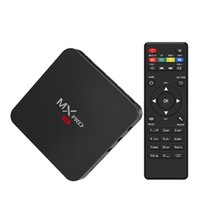 Wholesale Wholesale Tvs Canada - Canada Stock MX Pro Andorid TV BOX Amlogic S905 Quad Core 1GB 8GB 4K MXQ Streaming Media Player VS X96 Android 7.1