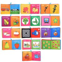 Wholesale-Intelligence Development Tissu Cognize Book Early Educational Learning Livres pour enfants Baby Fabric Toys Colorful Book For Toddlers