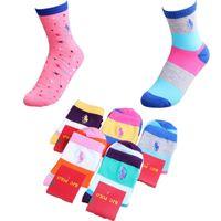 Wholesale Socks Slippers Warm Women - Hot sales woman polo brand Letter Socks Anklet Sports Hosiery Cotton Fashion Short Socks Slipper Girl Ship Warm Candy Colors Slipper Socks
