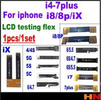 iphone flex extensiones de prueba al por mayor-1pcs para iPhone 4 4s 5 5s 5c 6 6s 7 7p 8 X más pantalla LCD Prueba de extensión Cable flexible Prueba extendida