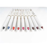 Koreanische Lippenstifte Großhandel Kaufen -Großhandel-Neue koreanische Make-up Lip Liner Bleistift 9 Farben Langlebig schwarz Lippenstift Automatic Rotary Natural wasserdicht Lipliner Lip Pencil