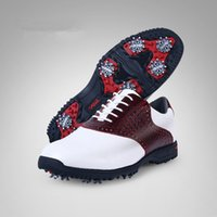 Barato Sapatos De Golfe Para Homens-2018 Nova Primavera Outono Golf Men Shoe Classic Fashion Leather Activities Nail Shoe Waterproof Sneakers antiderrapantes